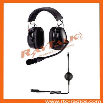 Two Way Radio Dual Earmuff Noise Cancelling Headset For Motorola  Dp2400/dp2600 - Buy 2 Way Radio Earmuff Headset,Aviation Headset For  Motorola