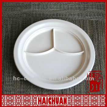 Ceramic Divided Food Plate Compartment Dinner Plate Dinner