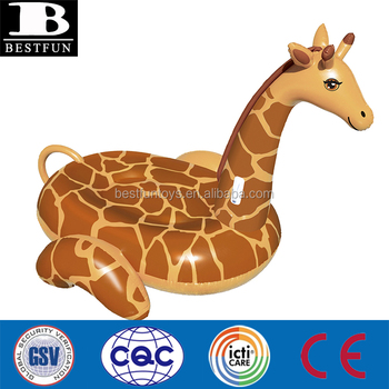 Giant Inflatable Giraffe Ride On Swimming Pool Float Custom Oversized  Animal Design Pool Lounger Rider
