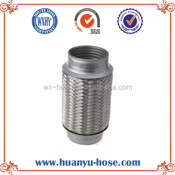 Flexible exhaust pipe tube connector double braided 60MMX150MM