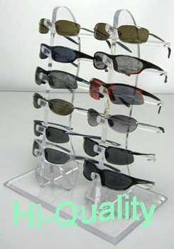 1bf58847c5 Customized Table Display 2 Column Acrylic Sunglass Display Rack ...