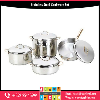 8 pcs Best Quality Senior Mirror Stainless Steel Cookware Sets