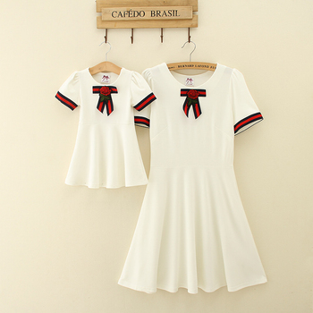 f4eab9247 creamy summer style matching mother daughter clothes mom and daughter  dresses family look clothing mommy and