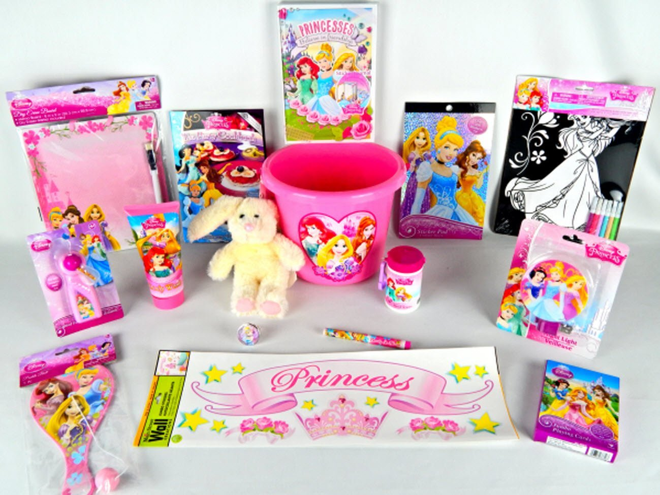 17 piece Disney Princess Royal Party Learning Activity Gift Set Bundle Disney Princess