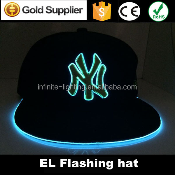 flashing hats with led lights street party club baseball. Black Bedroom Furniture Sets. Home Design Ideas