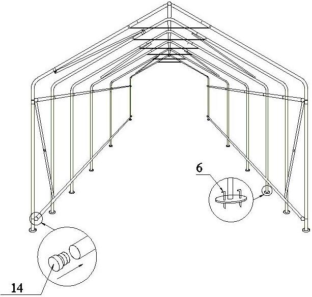 ss1224p gonflable garage tente tente mobile abri voiture garage tentes image garage toit et. Black Bedroom Furniture Sets. Home Design Ideas