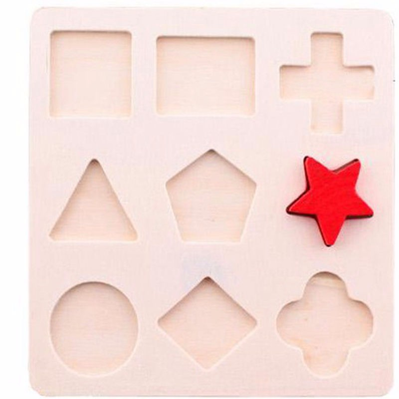 f632f2abe8d0 Preschool children s educational wooden jigsaw puzzle cognitive plate  geometry paired board Stacking Building Brain wooden toys - us215