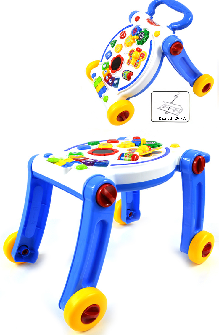 High Quality Musical Plastic Baby Push Car Rollartor Walker Learning Baby Walker