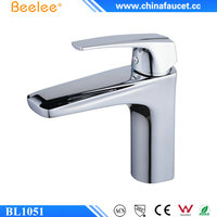 Beelee BL1051 Chrome Plated Brass Basin Water Taps, Bathroom Wash Basin Faucet