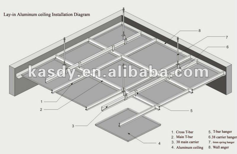 Creative Ceiling Design Hook On Metal Tile For Exhibition Hall