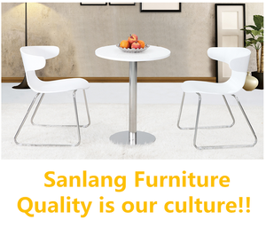 Sanlang restaurant furniture bentwood dining table train set chair with cheap price