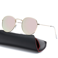 Vintage Round Sunglasses Women men female brand Metal Frames Mirror Lenses Sun shade Glasses For women design