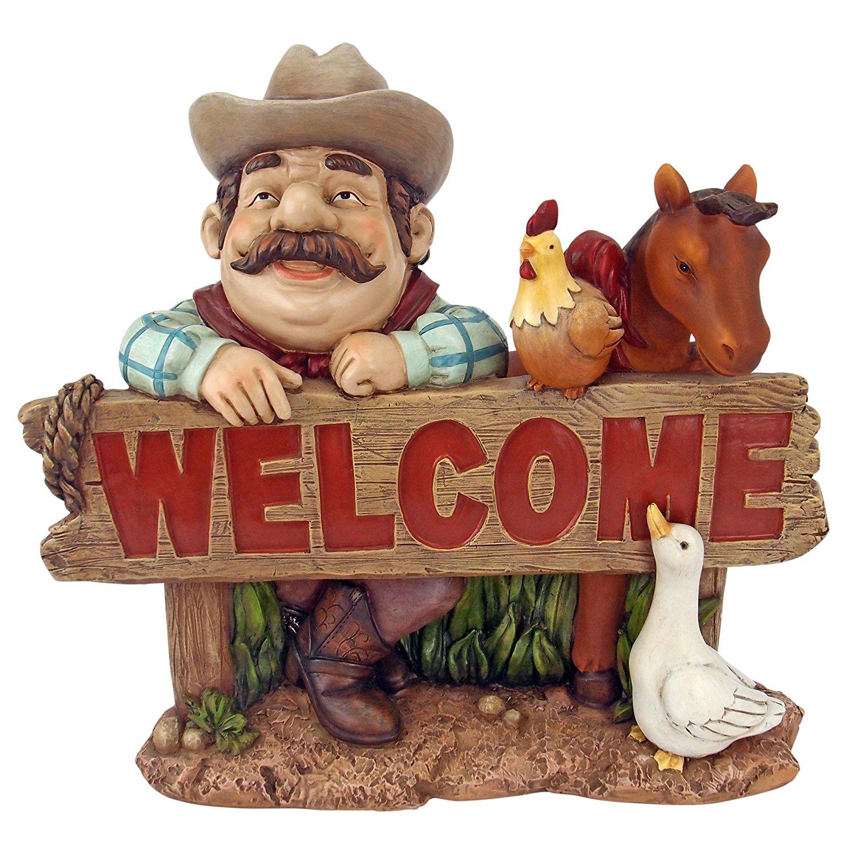 Design Toscano Cowboy Cody Western Welcome Statue
