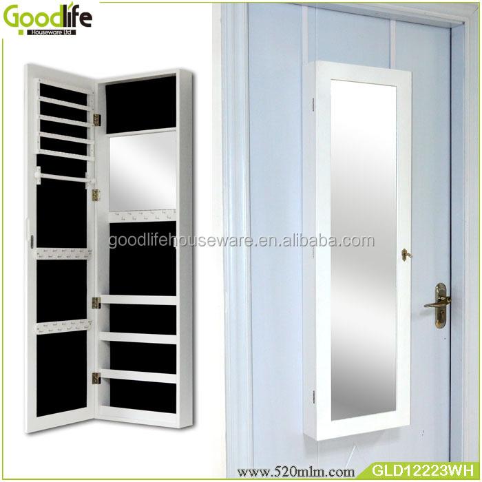 hei er verkauf t r h ngen spiegel schmuck schrank mit haken in guangdong hergestellt holzschrank. Black Bedroom Furniture Sets. Home Design Ideas