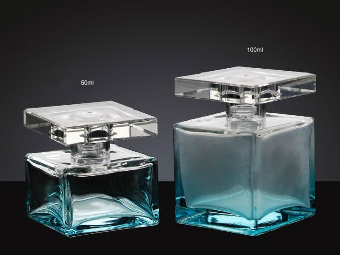 Berühmt 50ml- 100ml carré vert vide, verre bouteille de parfum-Bouteilles  HW64