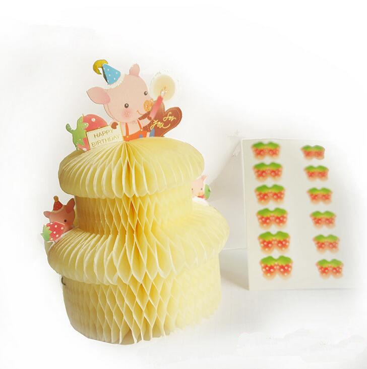3d Birthday Cake Pop Up Paper Craft Buy Birthday Cake Paper Craft