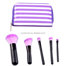 cosmetic brush with bag mirror