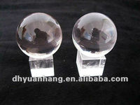 40mm Natural Clear Quartz Crystal Spheres,glass crystal ball spheres