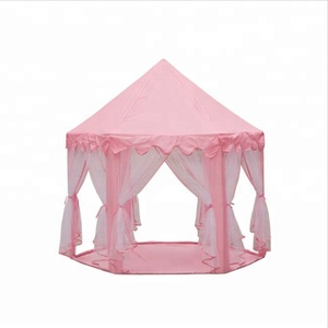 Pink Princess Castle Kids Play Tent Large Children Playhouse for Girls Indoor Outdoor Use