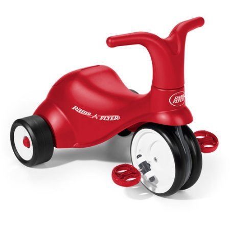 Radio Flyer 2-in-1 Scoot to Pedal Ride-On Trike in Red