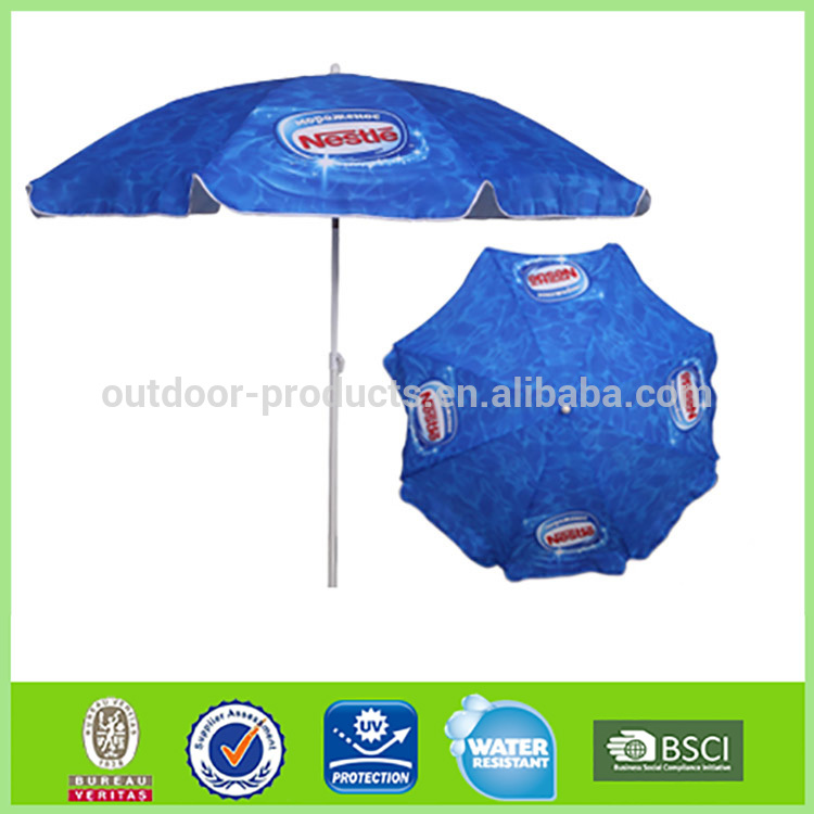 OEM and ODM Sunshade Sun protection ocean advertising photo print umbrellas