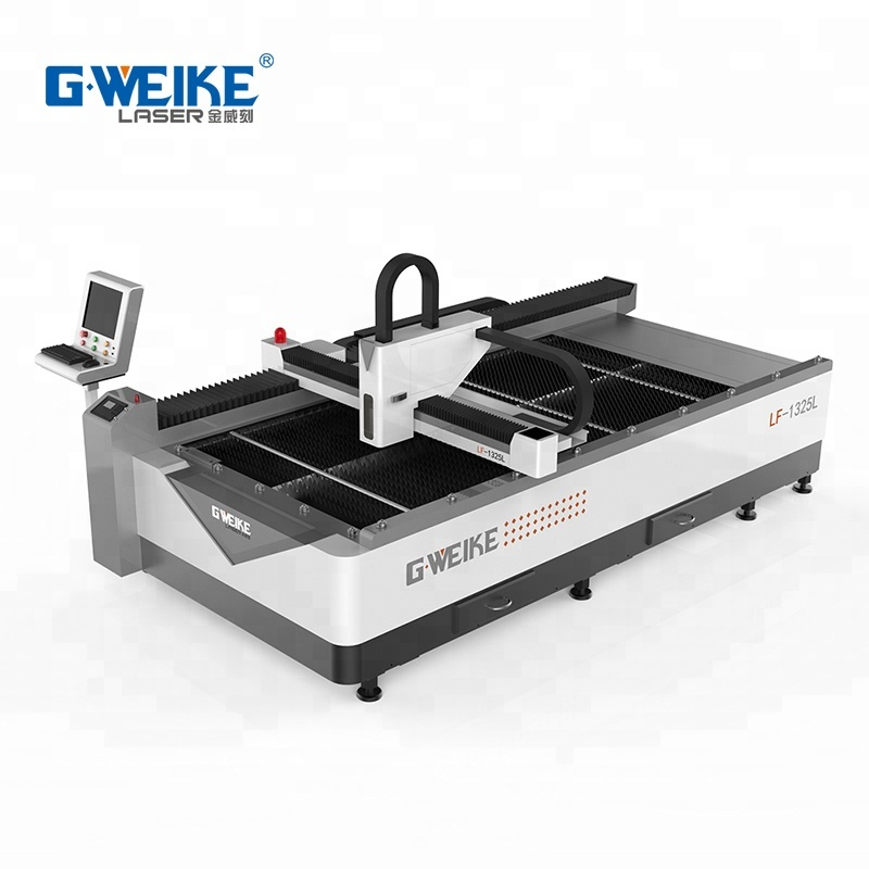 high quality and low price <strong>optic</strong> <strong>laser</strong> 200w-300w <strong>Fiber</strong> <strong>Laser</strong> Gweike metal cutter LF1325L used in advertisement in hot sale