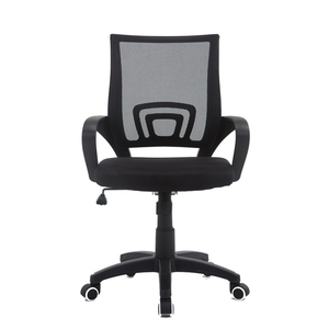 Modern High Back Mesh Swivel Task Office Visitor Meeting Reception Chair with Plastic Armrests