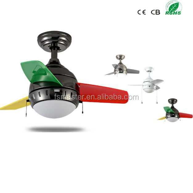 26 inch 3 blades ABS small ceiling fan for home decor