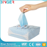 100% Polyester Disposable Non-Woven Spunlace Wiper Kitchen Rag Clean Wipe Clean Cloth in Roll