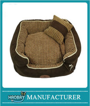 Pet Dog Puppy Bed Dark Brown Washable Pet Bed