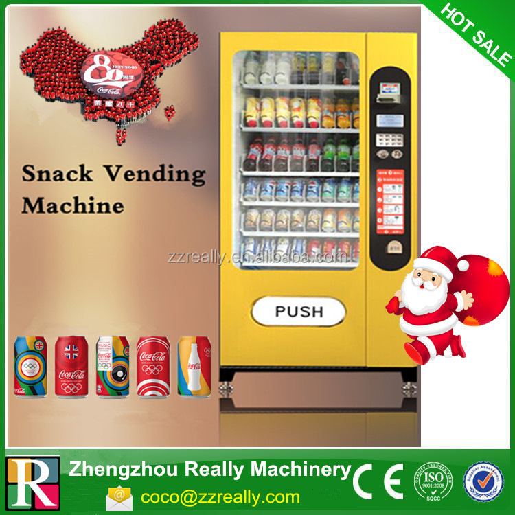 Coin/bill acceptor refrigeration snack vending machine