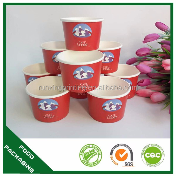 Own Logo Ice Cream Hot Selling Paper Cup With Lids Custom Logo