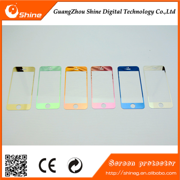 Mobile Phone Use For Iphone 4/4s/4c Color Mirror Tempered Glass ...