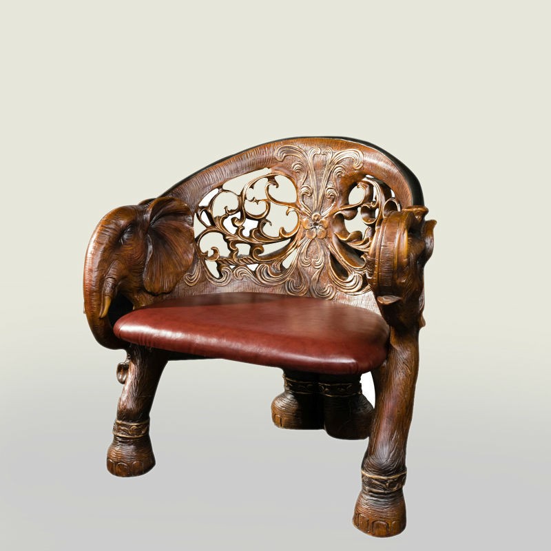 Living Room Table And Chair Hand Carved Elephant Polyresin Furniture Chair
