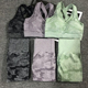 2PCS Camouflage Yoga Set Women Seamless Fitness Yoga Sports Bra High Waist GYM Camo leggings Workout Pants Fitness Suits