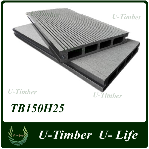 wood plastic composite garden decking