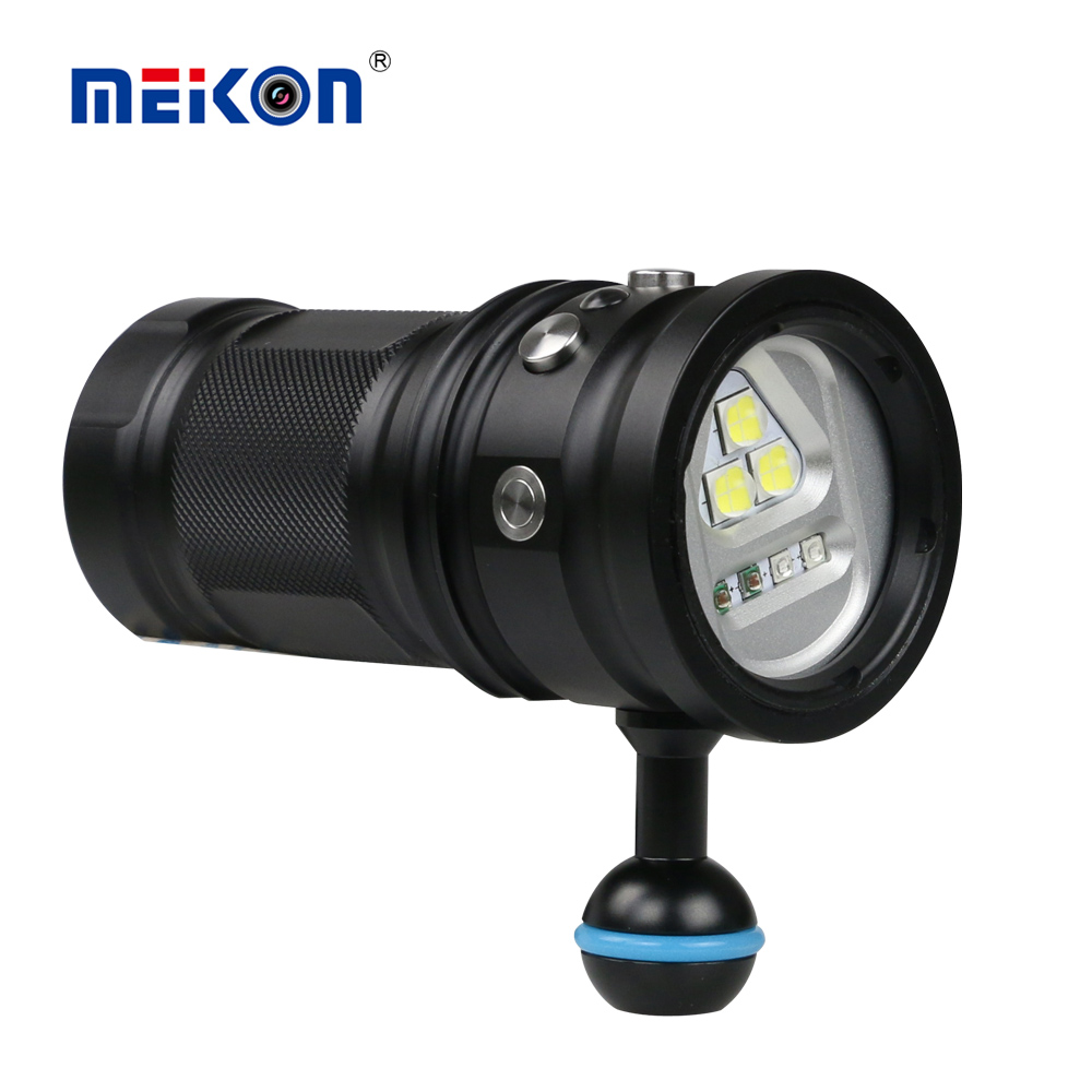Meikon High Quality 10000lm Aluminum alloy Diving Underwater Flashlight Waterproof LED Torch