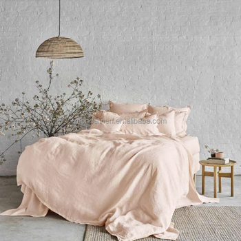 Charmant 100% Pure Linen Natural Stone Washed Bed Linen Bed Sheet Duvet Cover Set