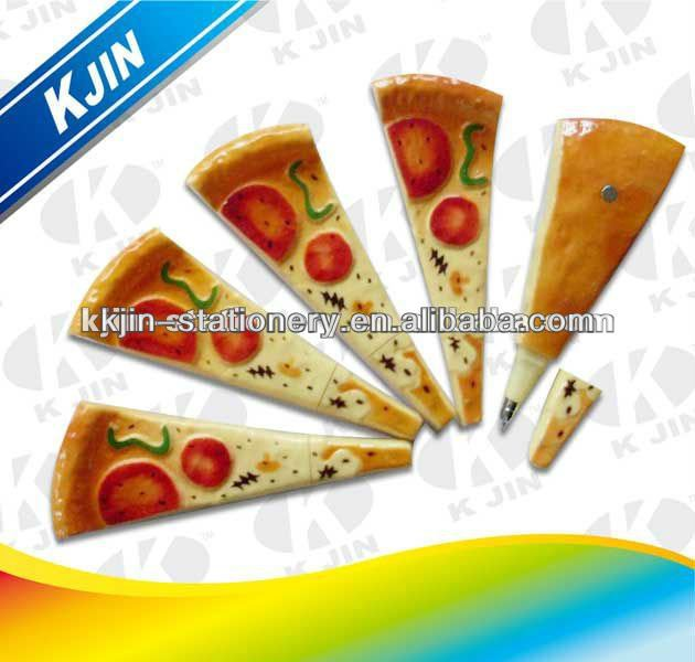 funny pizza ball pen/cute pizza pen for kids