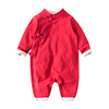 Wholesale Good Cotton newborn baby Chinese Infant clothing Romper Chinese Retro Clothing Winter Romper