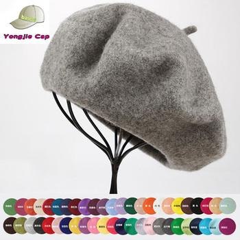 9f0696854761f colorful wholesale beret cheap wool custom military beret custom  embroidered logo wool beret