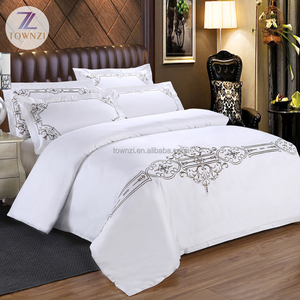 Top Quality Comfortable 100% Egyptian Cotton Embroidery Pattern Hotel Bed Sheets