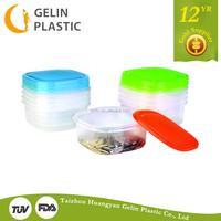 GL28-4 Security transparent plastic crisper kitchen food storage 14 number transparent plastic crisper