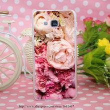 peony Transparent Hard Case Cover for Smasung Galaxy S5 Mini A3 A5 A7 A8 Note 2 3 4 5