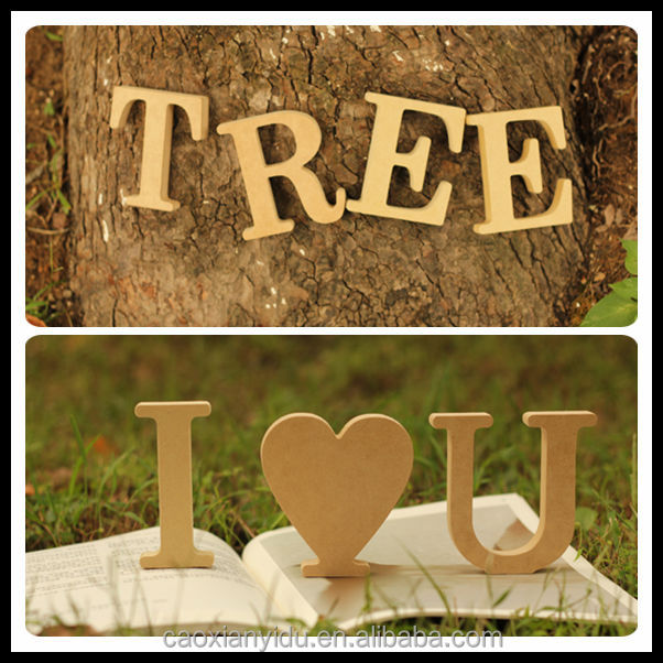 Free Shipping Modern Home Decor Wooden Letter Furnishing Articles Big Size Letter Indoor Home Decoration 10 *10*1.5cm