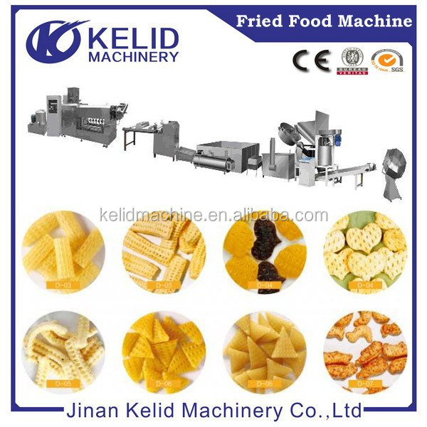 Popular Fried snack pellet chips food processing line