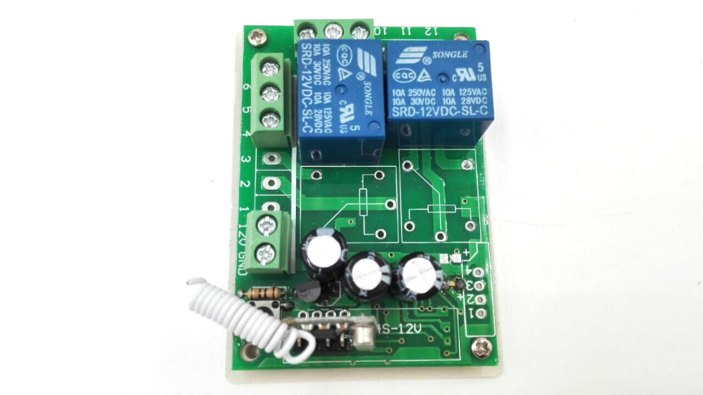 RF 2 relay DC12V remote controller for light