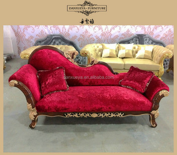 Wedding Furniture For Bride And Groom , Red Velvet Living Room Sofa From  China