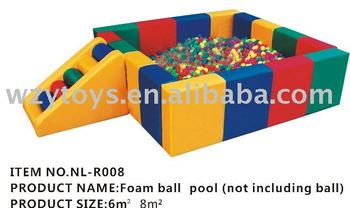 Square Soft Ball Pool Childrens Indoor Play Equipment For Home - Buy ...