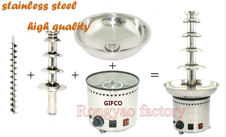 5-Layers Stainless Steel Chocolates Fountain Machine 5 Chocolates Fountain For Hotel